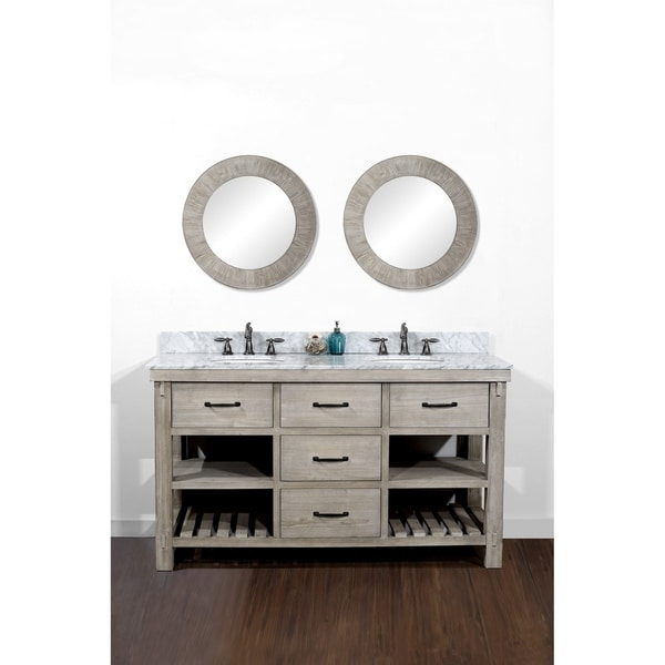 Shop Rustic Style 60 Inch Double Sink Bathroom Vanity Ships To