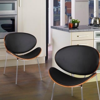 Adeco Set Of Two Bentwood Leisure Mid-century Style Chairs