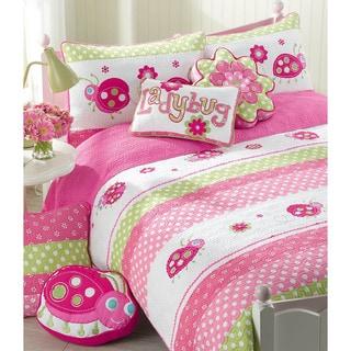 Pink Ladybug 3-piece Quilt Set