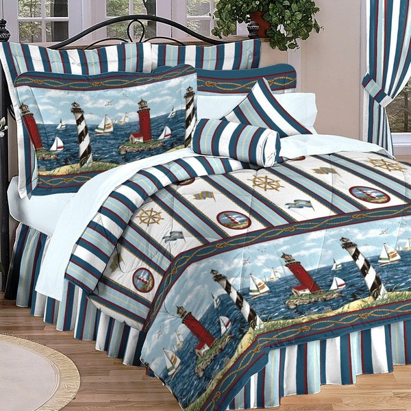 Lighthouses 4-piece Comforter Set