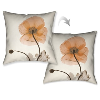 Laural Home X-Ray Poppy Decorative Throw Pillow