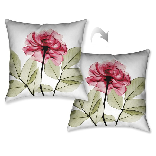 Laural Home X-Ray Rose Decorative Throw Pillow