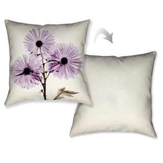 Laural Home X-Ray Chrysanthemum Flower Decorative Throw Pillow (18 inches x 18 inches)