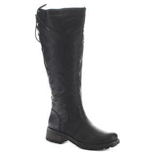 FAHRENHEIT LESLIE-10 Women's Chunky Heel Riding Boots