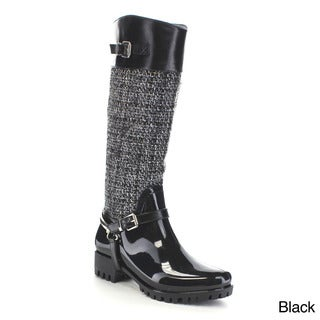 Beston AA71 Women's Sweater Waterproof Rain Boots