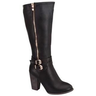 Beston CB35 Women's Chic Stacked Heel Knee High Boots