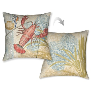 Laural Home Lobster Decorative Pillow (18 inches x 18 inches)