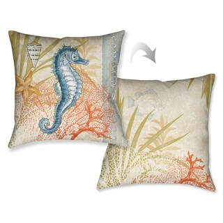 Laural Home Seahorse Decorative Throw Pillow (18 inches x 18 inches)