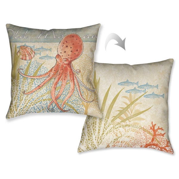 Laural Home Octopus Decorative Pillow (18 inches x 18 inches)