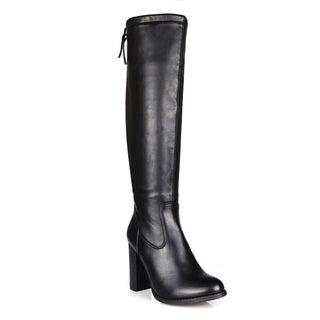 Fahrenheit Benson-06 Back Tie Women's Knee High Boots