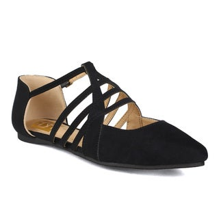 Fahrenheit Miriam-04 Ghillie Lace-up Pointy Toe Women's Flats