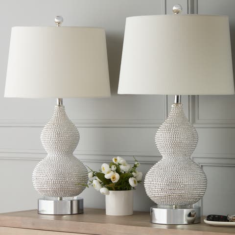Abbyson Beaded 27.5-inch Table Lamp (Set of 2)