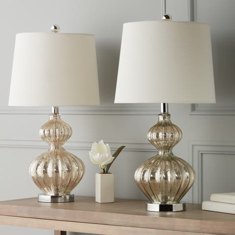 Abbyson Silver Mercury Glass 23.5-inch Table Lamp (Set of 2)