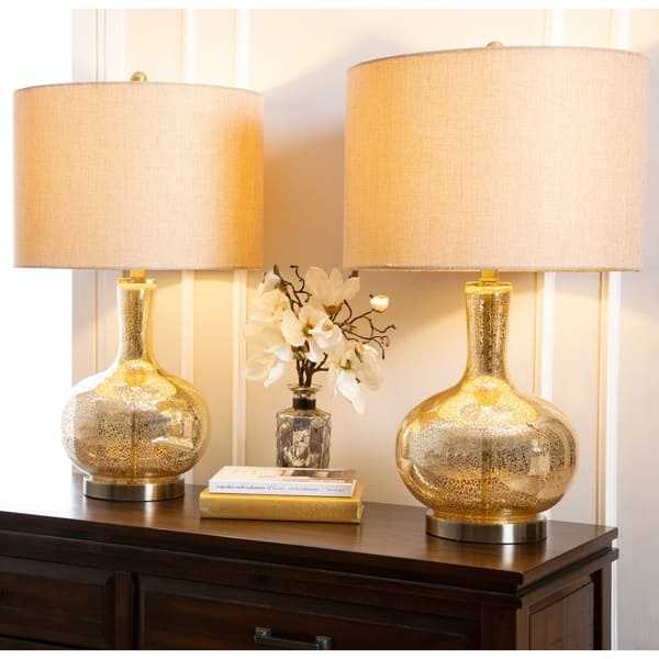 Shop Gold Mercury Glass 25 5 Inch Table Lamp Set Of 2 By