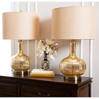 Gold Mercury Glass 25.5-inch Table Lamp (Set of 2) By Abbyson
