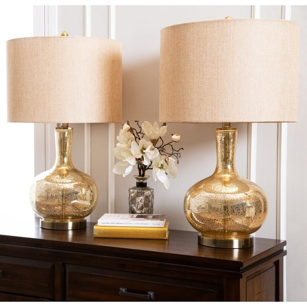 Abbyson Gold Mercury Gl 25 5 Inch Table Lamp Set Of 2