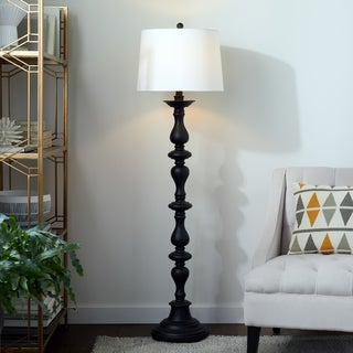 Abbyson Living Turnwood Black Floor Lamp