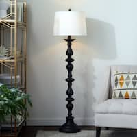 Abbyson Turnwood Black 59-inch Floor Lamp