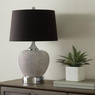 Abbyson Celine Silver Beaded 28-inch Table Lamp