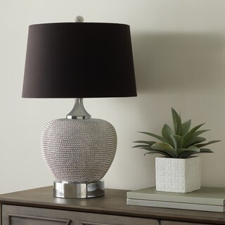 Abbyson Celine Silver Beaded Table Lamp