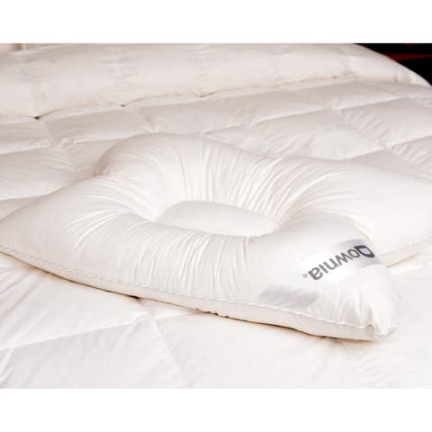 Downia Cotton Cervicalopedic Down Pillow - White