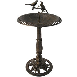 Premium Lotus Twin Birds Bird Bath