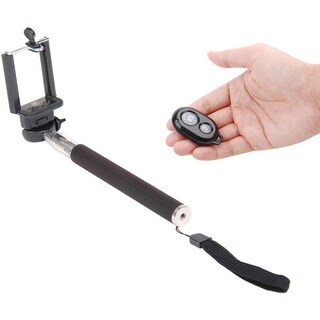 Expandable Selfie Stick with Bluetooth Remote Control (Option: Black)