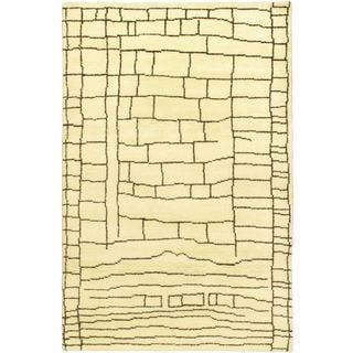 ecarpetgallery Marrakech Beige Wool Rug (4'8 x 7'10)