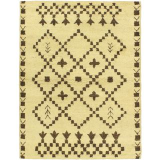 ecarpetgallery Marrakech Beige Wool Rug (4'7 x 6'7)