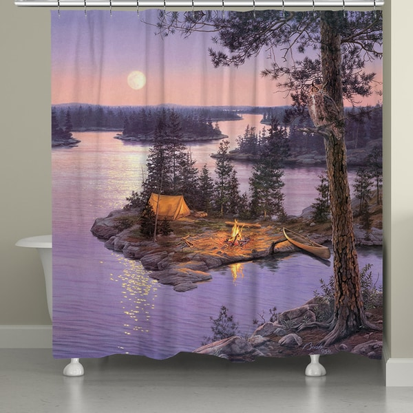 Laural Home Lake at Twilight 71 x 74-inch Shower Curtain
