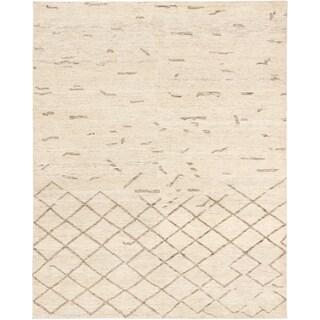 ecarpetgallery Royal Maroc Beige Open Field Wool Rug (8' x 9'10)