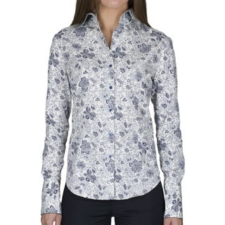 Robert Talbott Women's Floral Long-Sleeve Blouse