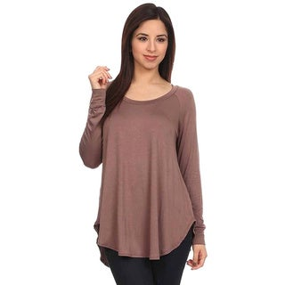Moa Collection Women's Soft Knit Long-Sleeve Top