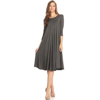 Moa Collection Women's A-Line Midi Dress (3 options available)