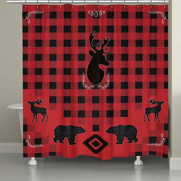 Laural Home Lodge Buffalo Plaid Shower Curtain
