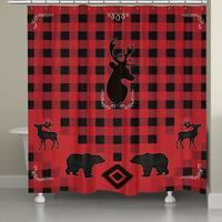 Laural Home Lodge Buffalo Plaid Shower Curtain
