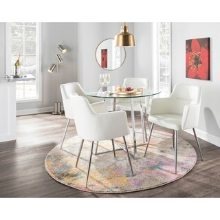 LumiSource Andrew Modern Dining Chair (Set of 2)