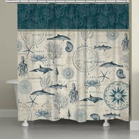 Laural Home Ocean Life Creatures Shower Curtain