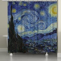 Laural Home Starry Night Shower Curtain