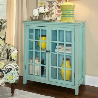 Linon Galway Cabinet - Turquoise