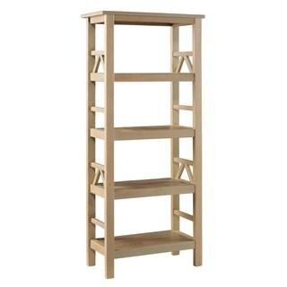 Linon Elaine Driftwood Bookcase