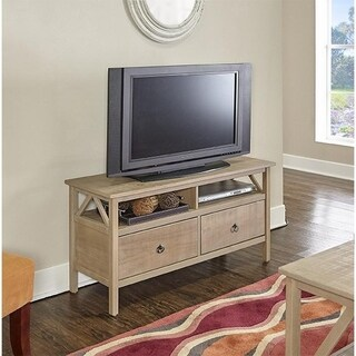 Linon Elaine Driftwood TV Stand
