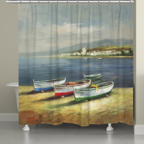 Laural Home Three Boats Shower Curtain (71 inches x 72 inches)