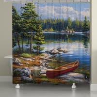 Laural Home Blue Lake Shower Curtain (71 inches x 72 inches)
