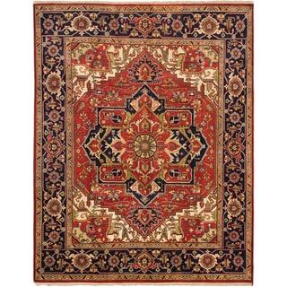ecarpetgallery Serapi Heritage Brown Wool Rug (7'10 x 9'10)