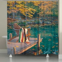 Laural Home Tranquil Lake 71 x 74-inch Shower Curtain