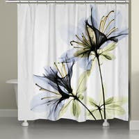Laural Home X-Ray Azalea Flower Shower Curtain