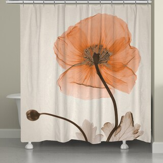 Laural Home X-Ray Poppy Shower Curtain