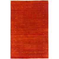 ecarpetgallery Kashkuli Gabbeh Brown Wool Rug - 3'10 x 5'10