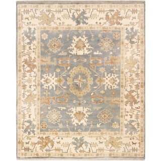 ecarpetgallery Royal Ushak Blue Wool Rug (8'1 x 9'11)